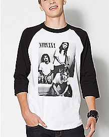 Group Nirvana Raglan T Shirt
