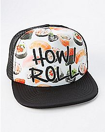 Sushi How I Roll Trucker Hat