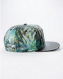 High Cannabis Leaf Snapback Hat