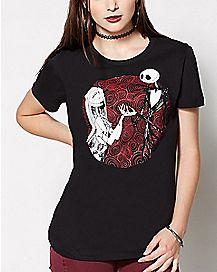 The Nightmare Before Christmas Jack and Sally T Shirt