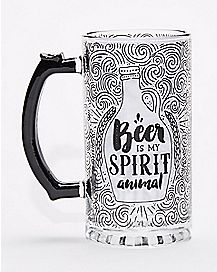 Beer is my Spirit Animal Beer Stein - 25 oz.