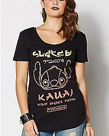 Lilo & Stitch Neff Kauai Scoop Neck T Shirt - Disney