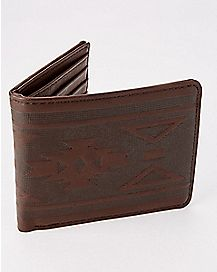 Tribal Bifold Wallet - Brown