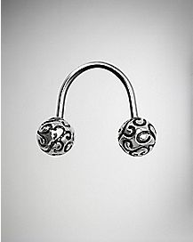 Filigree U-Shape Septum Ring - 16 Gauge