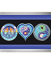 Peace Love Black Light Poster