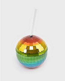 Rainbow Disco Ball Cup - 12 oz.
