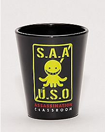 Anti-Sensei Weapons Assassination Classroom Shot Glass - 1.5 oz.