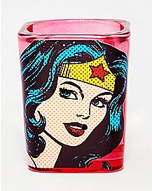 Comic Book Wonder Woman Shot Glass - 1.5 oz.