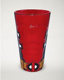 Molded Deadpool Pint Glass 16 oz.- Marvel Comics