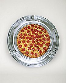 Glass Pizza Ashtray