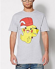 Pikachu Hat T Shirt - Pokemon