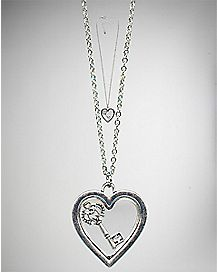 Key in Heart Necklace