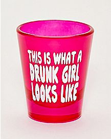 Drunk Girl Shot Glass