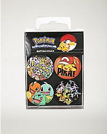 Pokemon Group Button 4 Pack