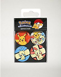 Electric Type Pokemon Button 4 Pack