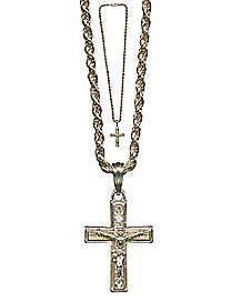 Gold Chain Crucifix