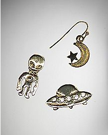 Alien Moon Star Earring 3 Pack
