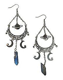 Mystical Space Dangle Earrings