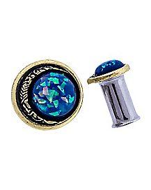 Blue Opal-Effect Moon Plugs