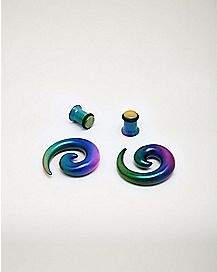 Rainbow Spiral and Ear Plugs - 2 Pair