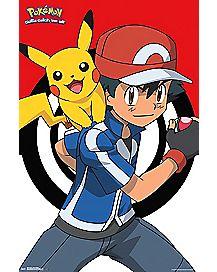 Pikachu and Ash Pokemon Poster