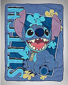 Lilo & Stitch Smiling Fleece Blanket