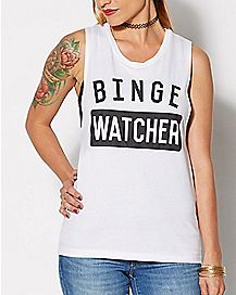 Binge Watcher Muscle Tank Top