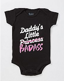 Daddys Little Badass Baby Bodysuit