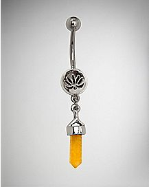 Solar Chakra Belly Ring - 14 Gauge