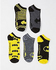 Batman No Show Socks 5 Pair - DC Comics