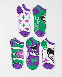 Joker No Show Socks 5 Pair - DC Comics