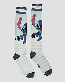 Lilo & Stitch Striped Knee High Socks