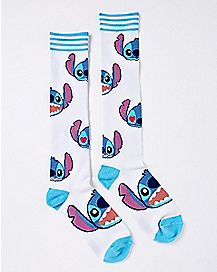 Stitch Faces Knee High Socks