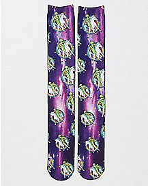 Alien Unicorn Galaxy Crew Socks