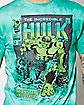Green Tie Dye Hulk T Shirt - Marvel Comics