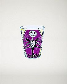 Nightmare Before Christmas Purple Web Shot Glass