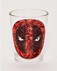 Collage Deadpool Shot Glass - 1.5 oz