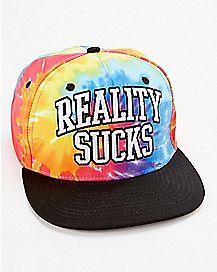Reality Sucks Tie Dye Snapback Hat