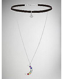 Buddha Chakra Moon and Stars Necklace