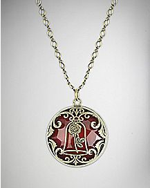 Enchanted Rose Beauty and the Beast Necklace