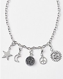 Moon Star Chain Choker Necklace