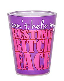 Resting Bitch Face Shot Glass - 1.5 oz.