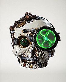 Steampunk Skull Plasma Figurine - 2.2 lbs.