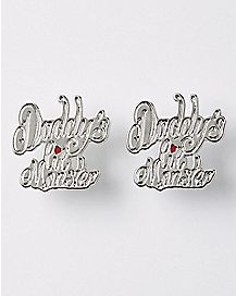 Daddy's Lil Monster Harley Quinn Earrings