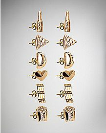 Fast Food Stud Earrings 6 Pack
