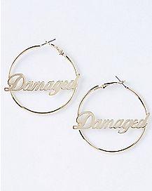 Damaged Suicide Squad Hoop Earrings