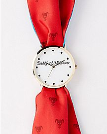 Daddy's Lil Monster Harley Quinn Scarf Watch - DC Comics