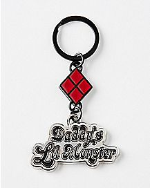 Daddy's Lil' Monster Harley Quinn Keychain - DC Comics