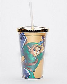 Classic Link Legend of Zelda Cup with Straw - 16 oz.
