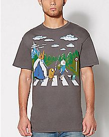 Adventure Time Abbey Road T Shirt